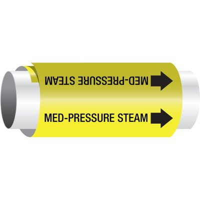 Setmark® Snap-Around Pipe Markers - Med Pressure Steam