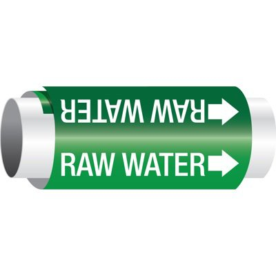 Setmark® Snap-Around Pipe Markers - Raw Water