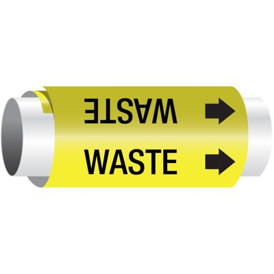 Setmark® Snap-Around Pipe Markers - Waste