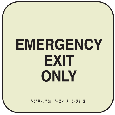 SetonGlo™ Signs - Emergency Exit Only