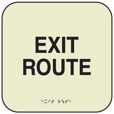SetonGlo™ Signs - Exit Route