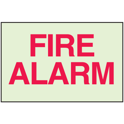 Fire Alarm - Glow-In-The-Dark Fire Exit Sign