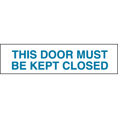 Setonsign® Value Packs - This Door Must Be Kept Closed