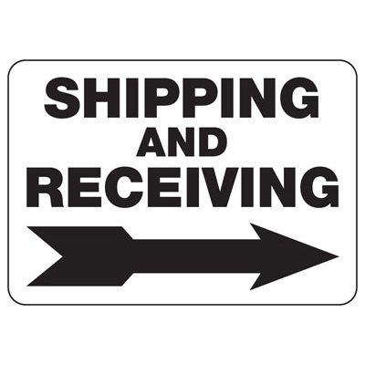 Shipping Receiving (Right Arrow) - Shipping and Receiving Signs