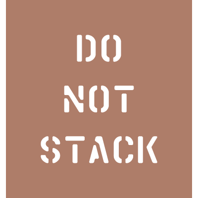 Shipping Instruction Stencils - Do Not Stack
