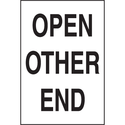 Open Other End Shipping Labels