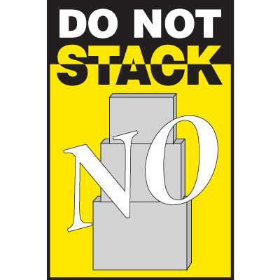 No Do Not Stack Shipping Labels