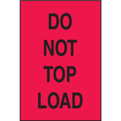 Do Not Top Load Shipping Labels
