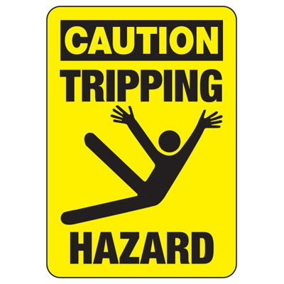 Caution Tripping Hazard (Graphic) - Industrial Slip and Trip Sign