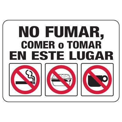 Housekeeping Signs - No Fumar En Esta Area