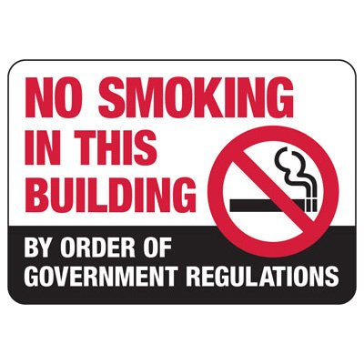 No Smoking Signs - No Smoking In This Building