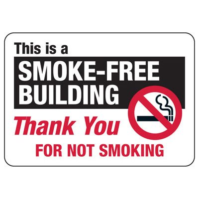 Smoke-Free Building - Industrial Smoking Signs