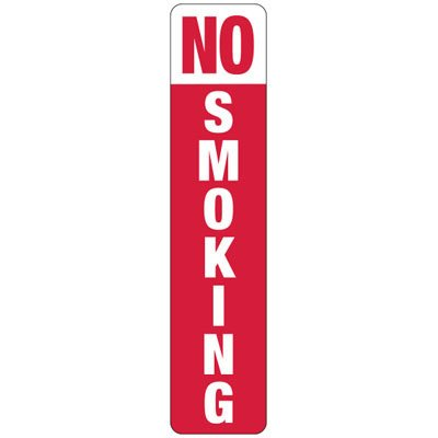 No Smoking (Vertical) - Industrial Smoking Signs