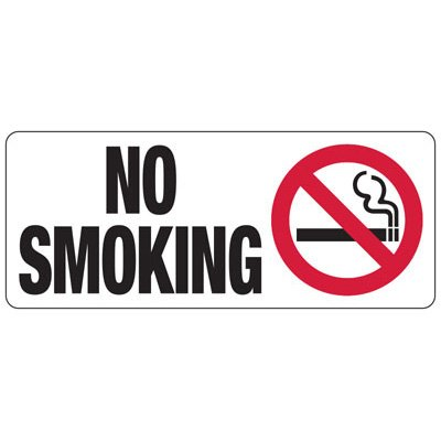 No Smoking (Graphic) - Industrial Smoking Signs