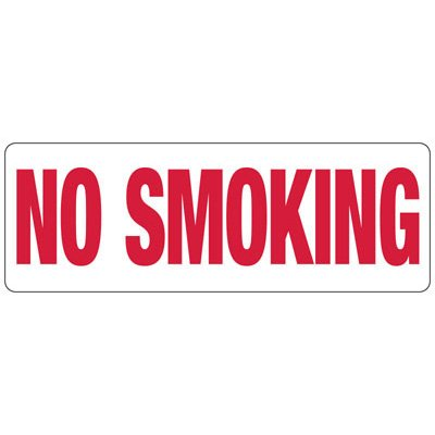 No Smoking (Symbol) - Industrial Smoking Signs