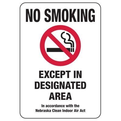 Nebraska No Smoking Sign