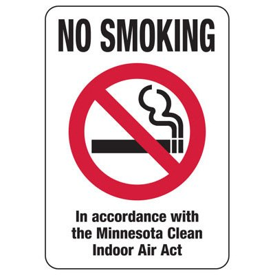 Minnesota Smoke-Free Signs- No Smoking