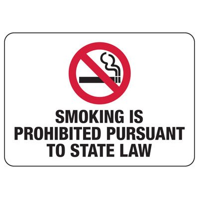 Smoking Is Prohibited - Connecticut Smoking Prohibited Sign