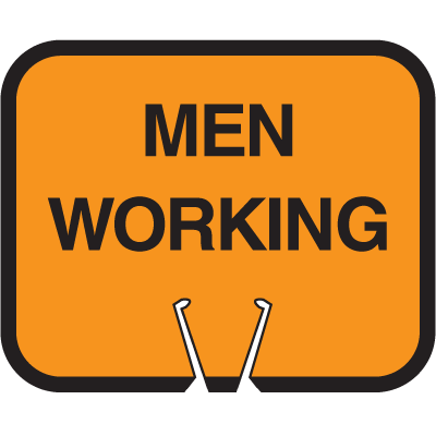 Snap-On Cone Sign - Men Working