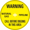 SoilMarker™ Surface Markers - Warning Natural Gas Pipeline