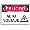 Spanish Hazard Warning Labels - Peligro Alto Voltaje