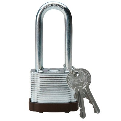 Brady Keyed Different 2 inch Shackle Steel Locks - Brown - Part Number - 101958 - 1/Each
