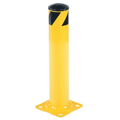 "Steel Pipe Safety Bollard 8"" Base x 4.5"" Dia"