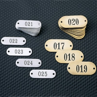Stock Brass & Aluminum Tags