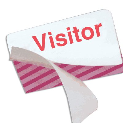 Stock ONEStep TIMEbadge® - Visitor