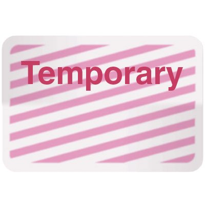Stock TIMEbadge® - Temporary Adhesive