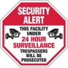 Security Alert This Facility Under 24Hr Surveillance - Vandalism Signs