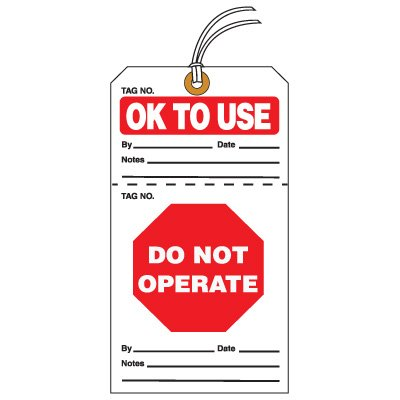 Tear-Off QC Action Tags - OK To Use