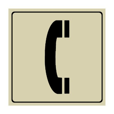 Telephone Symbol - Engraved Graphic Symbol Signs