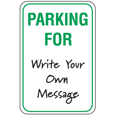 Temporary Parking Signs - Parking For