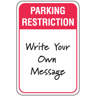 Temporary Parking Signs - Parking Restriction