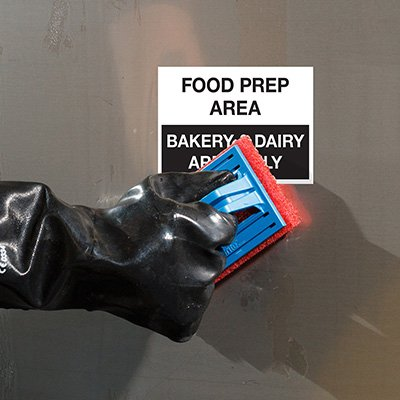 ToughWash® Labels - Bakery And Dairy Prep Area