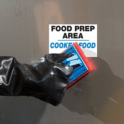 ToughWash® Labels - Cooked Food Prep Area