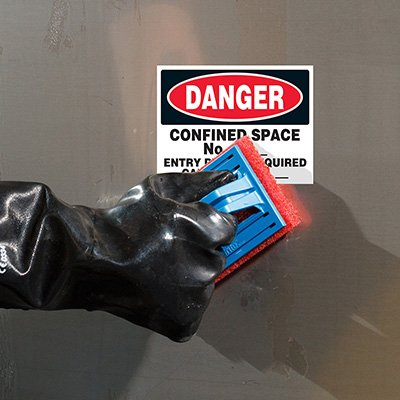 ToughWash® Labels - Danger Confined Space No.__