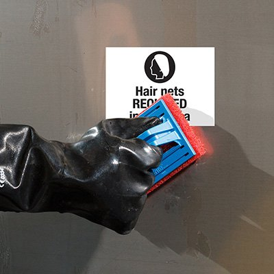 ToughWash® Labels - Hairnets Required In This Area