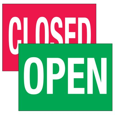 Traffic Cone Signs - Open/Closed