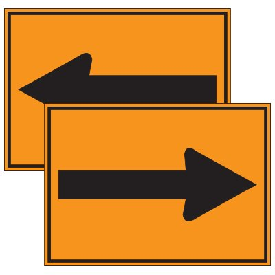 Traffic Cone Signs - Arrows