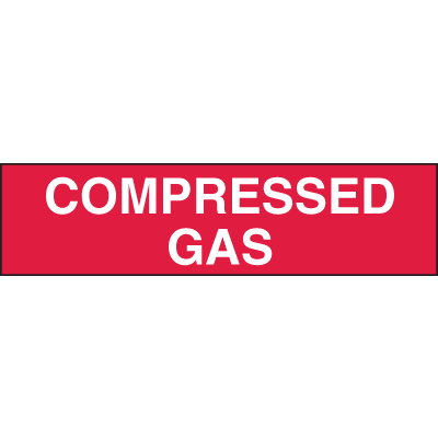 Compressed Gas Truck and Tank Signs