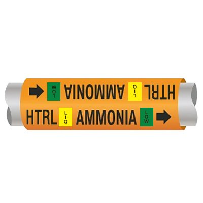 Ultra-Mark® Ammonia Pipe Markers - Hi Temp Recirculated Liq