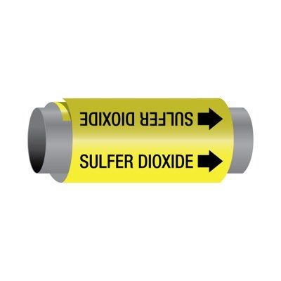 Ultra-Mark® Self-Adhesive High Performance Pipe Markers - Sulfur Dioxide