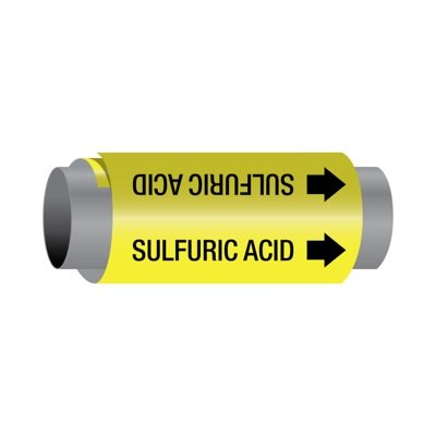 Ultra-Mark® Self-Adhesive High Performance Pipe Markers - Sulfuric Acid