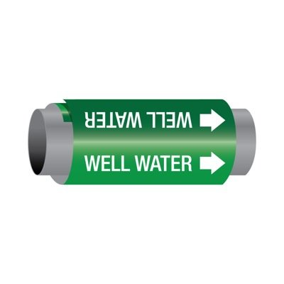 Ultra-Mark® Self-Adhesive High Performance Pipe Markers - Well Water