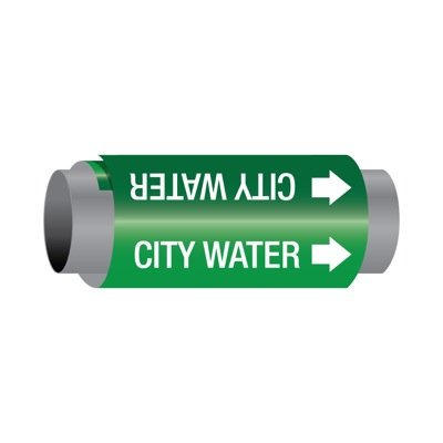Ultra-Mark® Self-Adhesive High Performance Pipe Markers - City Water