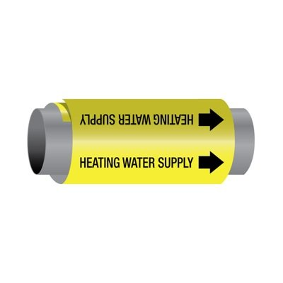 Ultra-Mark® Self-Adhesive High Performance Pipe Markers - Heating Water Supply