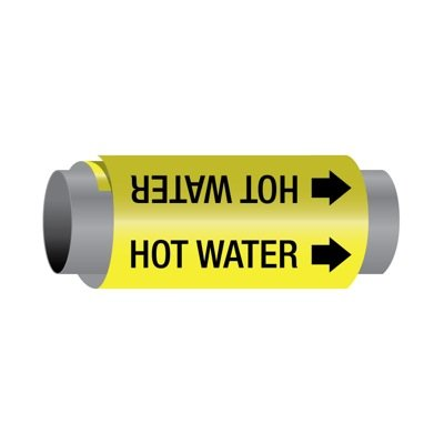 Ultra-Mark® Self-Adhesive High Performance Pipe Markers - Hot Water