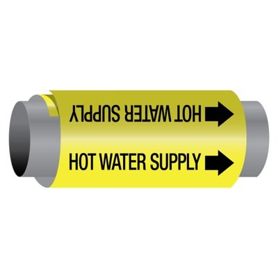 Ultra-Mark® Self-Adhesive High Performance Pipe Markers - Hot Water Supply